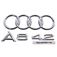 Trunk Emblems Badges 00-03 Audi A8 4.2 Quattro D2 - Genuine