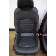 Red Stitched Leather Jetta GLI Sport Seats Set Interior 2012 VW Jetta MK6