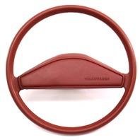 Original Steering Wheel & Horn Pad VW Rabbit Jetta Pickup MK1 Red - 171 419 091