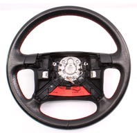 Driver Edition Red Stitched Leather Steering Wheel 96-99 VW Jetta Golf GTI MK3