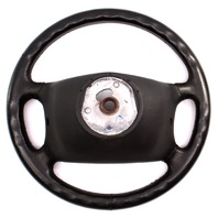 4 Spoke Leather Steering Wheel 90-93 VW Cabriolet Mk1 - Genuine - 155 419 091