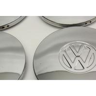Chrome Wheel Center Hub Cap Hubcap Set 75-84 VW Rabbit Jetta Pickup MK1 Genuine