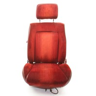 RH Front Passenger Red Cloth Seat 83-84 VW Rabbit GTI MK1 - Genuine