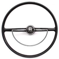 62-72 VW Beetle Bug Steering Wheel & Horn Ring Vintage Aircooled 311 415 651 A