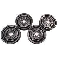 """15"""" x 4.5 Steel Wheel Rim Set 72-73 VW Beetle Aircooled ET34 -  Genuine"""