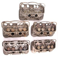 Lot of 5 Cylinder Head Cores 72-79 VW Bus Type 4 1700 - 2000cc Aircooled Genuine