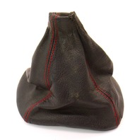 Stock Genuine Red Stitched Leather Shifter Shift Boot 93-99 VW Jetta GTI DE MK3