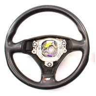 Sports Steering Wheel 3 Spoke 02-05 Audi A4 S4 B6 - Black Leather - Genuine
