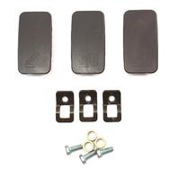 Child Seat Restraint Hooks Mounts Caps Audi A4 02-05 B6 - Black - 4B0 887 301