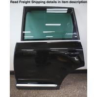 LH Rear Complete Door Assembly 04-10 VW Touareg - L041 Black