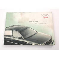 Owners Manual Book Booklet 2002 Audi A8 S8 D2 - Genuine