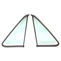 Quarter Window Glass & Seals Non Vented 75-84 VW Rabbit Pickup Jetta MK1 ~