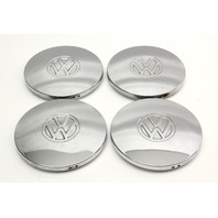 Chrome Wheel Center Hub Cap Set 75-84 VW Rabbit Jetta Pickup MK1 ~ Genuine ~
