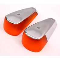 2x Fender Turn Signal Light Lens 70-79 VW Super Beetle Aircooled Genuine Hassia