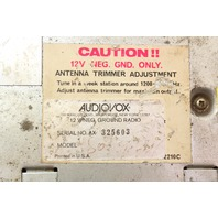 Audiovox AX-325603 Old School Vintage Car Radio Head Unit VW MG BMW