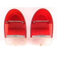 Tail Light Lamp Lens Set 71-72 VW Beetle Bug Aircooled ~ Genuine VW Hella ~