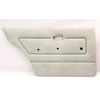 LH Rear Interior Door Panel Card VW Rabbit MK1 - Grey - Genuine