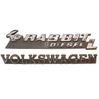 Rabbit Diesel L Hatch Emblem Badge VW Rabbit MK1 Genuine 171 853 687 AJ / 685 B