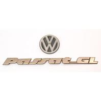 Passat GL Trunk Emblem Badge 90-97 VW Passat B3 B4 LD1V Genuine - 357 853 687 B