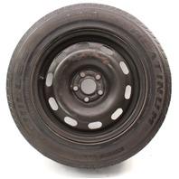 "Spare 15"" 5x100 Steel Wheel Rim & Tire 99-05 VW Jetta Golf MK4 ~ 1J0 601 027 H ~"