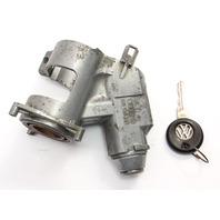 Ignition Housing Collar & Key 89-99 VW Jetta Gold Mk2 MK3 MT - 357 905 851 -