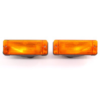 Front Turn Signal Lights Lens Lamp Set 84-88 Audi 5000 ~ 443 953 049 F / 051 F