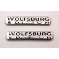 Wolfsburg Edition Fender Emblem Badges 99-10 VW Jetta MK4 MK5 - Genuine