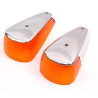 Fender Turn Signal Light Lens Lamps Set 70-79 VW Super Beetle Bug Genuine Hella