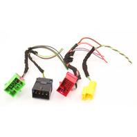 LH Under Seat Wiring Plugs Pigtails 02-05 Audi A4 S4 B6 - Genuine - 3B0 937 741