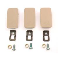 Child Seat Restraint Hooks Mounts Caps 02-05 Audi A4 B6 - Beige - 4B0 887 301 A