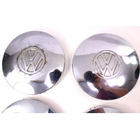 Chrome Center Hub Cap Hubcap Set 75-84 VW Rabbit Jetta Pickup MK1 - Genuine