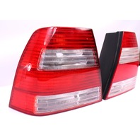 White Striped Taillight Tail Lamp Set Pair 99-05 VW Jetta Mk4 - 1JM 945 096