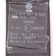 Center Rear Seatbelt Seat Belt 99-01 VW Jetta Golf GTI MK4 Black - 1J0 857 807 B