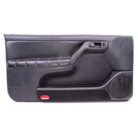 LH Driver Front Door Panel 95-99 VW Cabrio MK3 - Black Leather - Genuine