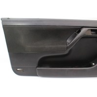 LH Driver Front Door Panel 99-02 VW Cabrio MK3 MK3.5 - Black - Genuine