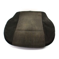 Front Seat Cover & Cushion 99-02 VW Cabrio MK3.5 - Black Cloth - Genuine