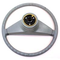 Grey Original Steering Wheel & Horn Pad VW Rabbit Jetta Pickup MK1 - Genuine