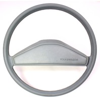 Grey Original Steering Wheel & Horn Pad VW Rabbit Jetta Pickup MK1 - Genuine