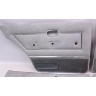 Interior Door Card Panel Full Set VW Rabbit MK1 4 Door - Grey - Genuine