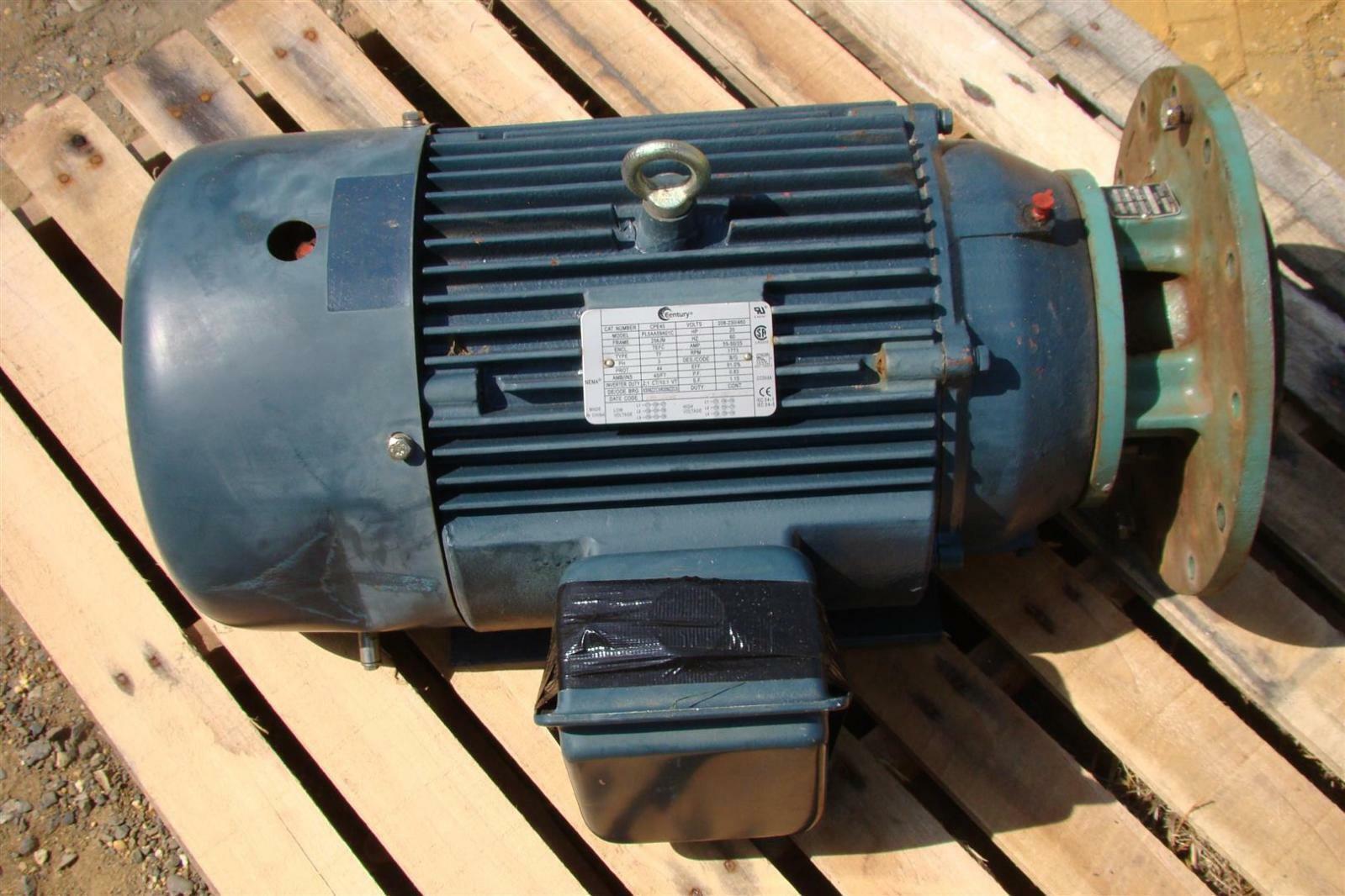 Century Electric Motor 20 Hp 1772 Rpm 208 230 460v
