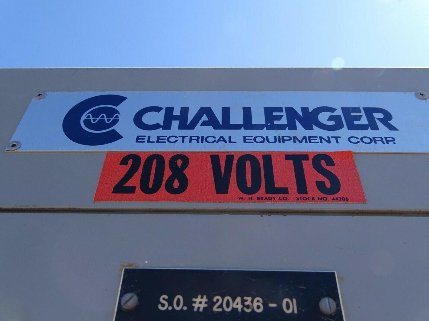 Challenger 45kVA 3-Phase Transformer, 480v x 208Y/120v, 452-415