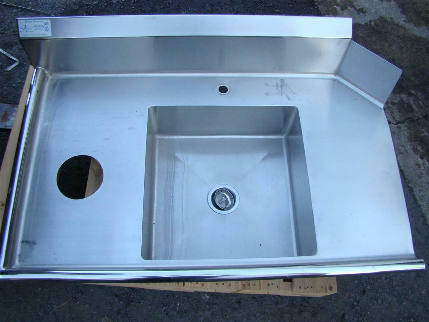 - Stainless Select Soiled Dish Sink With Backsplash NSF, UL, 46