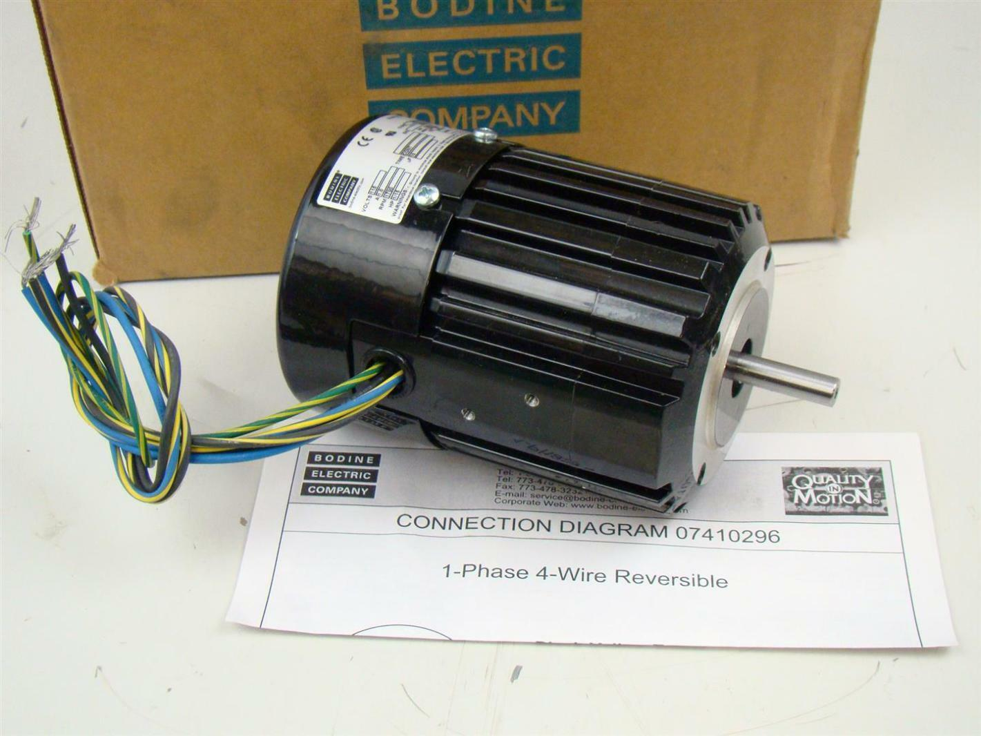 Wire Bodine Electric Motor Wiring Diagram on