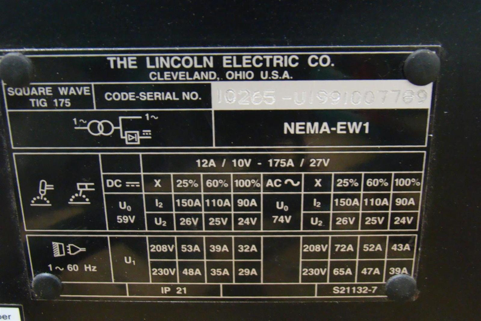 Lincoln Electric Square Wave Tig 175lincoln Wiring Diagram Ac 225 S Dc Welder 175 220v