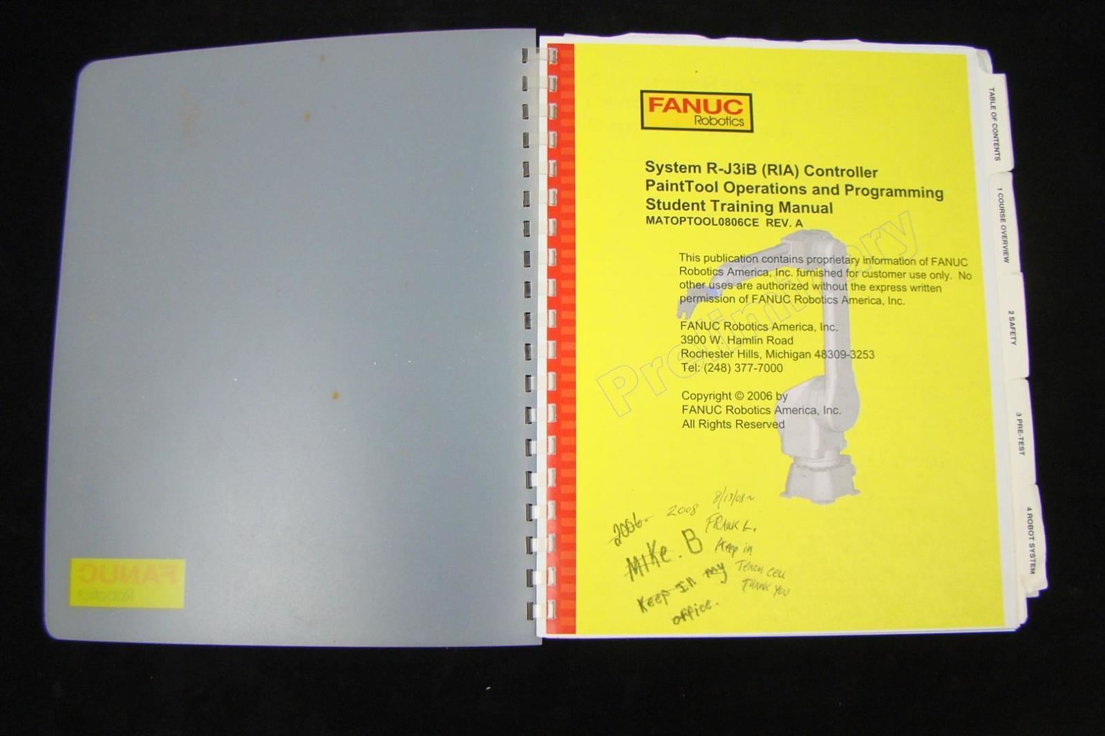Fanuc R j3ib Progremming Manual