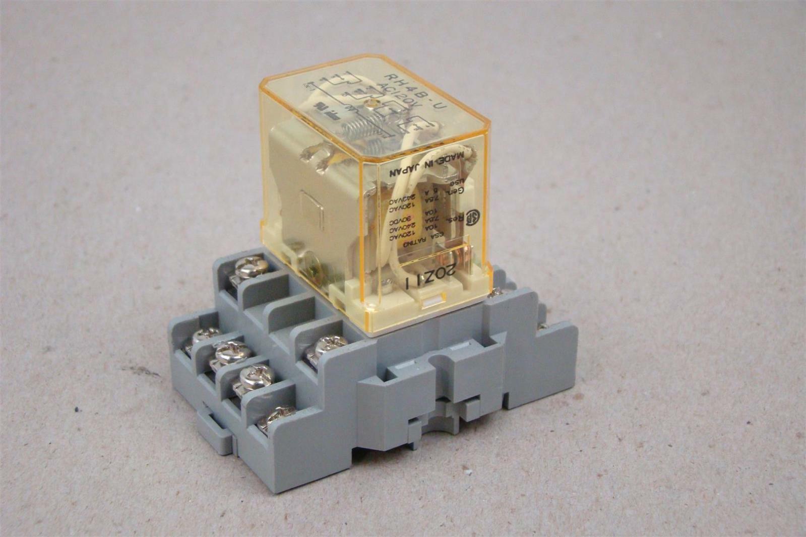details about idec relay with socket ac120v, rh4b u