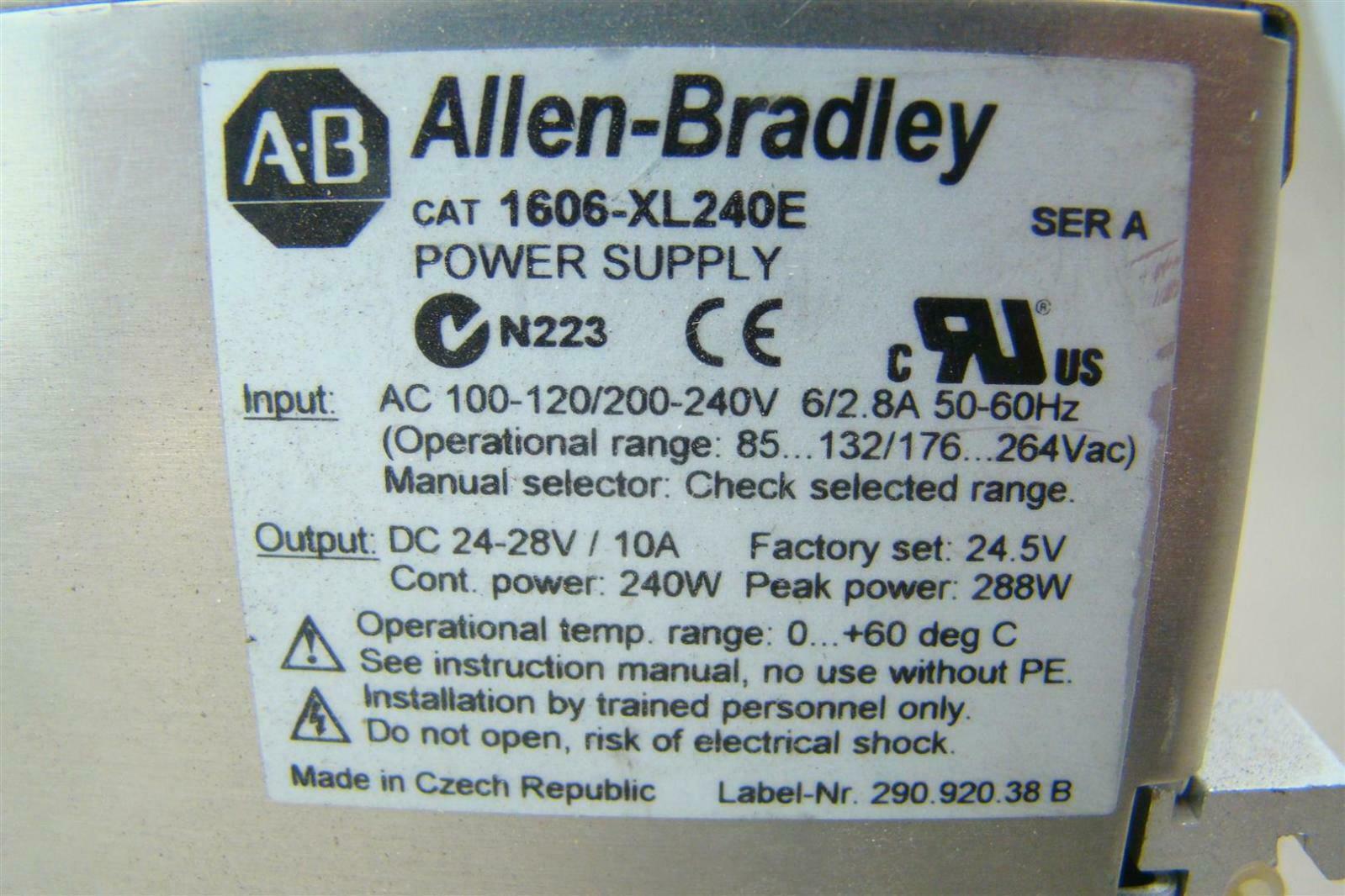 Allen Bradley 24vdc Din Mounted Power Supply 120 240v