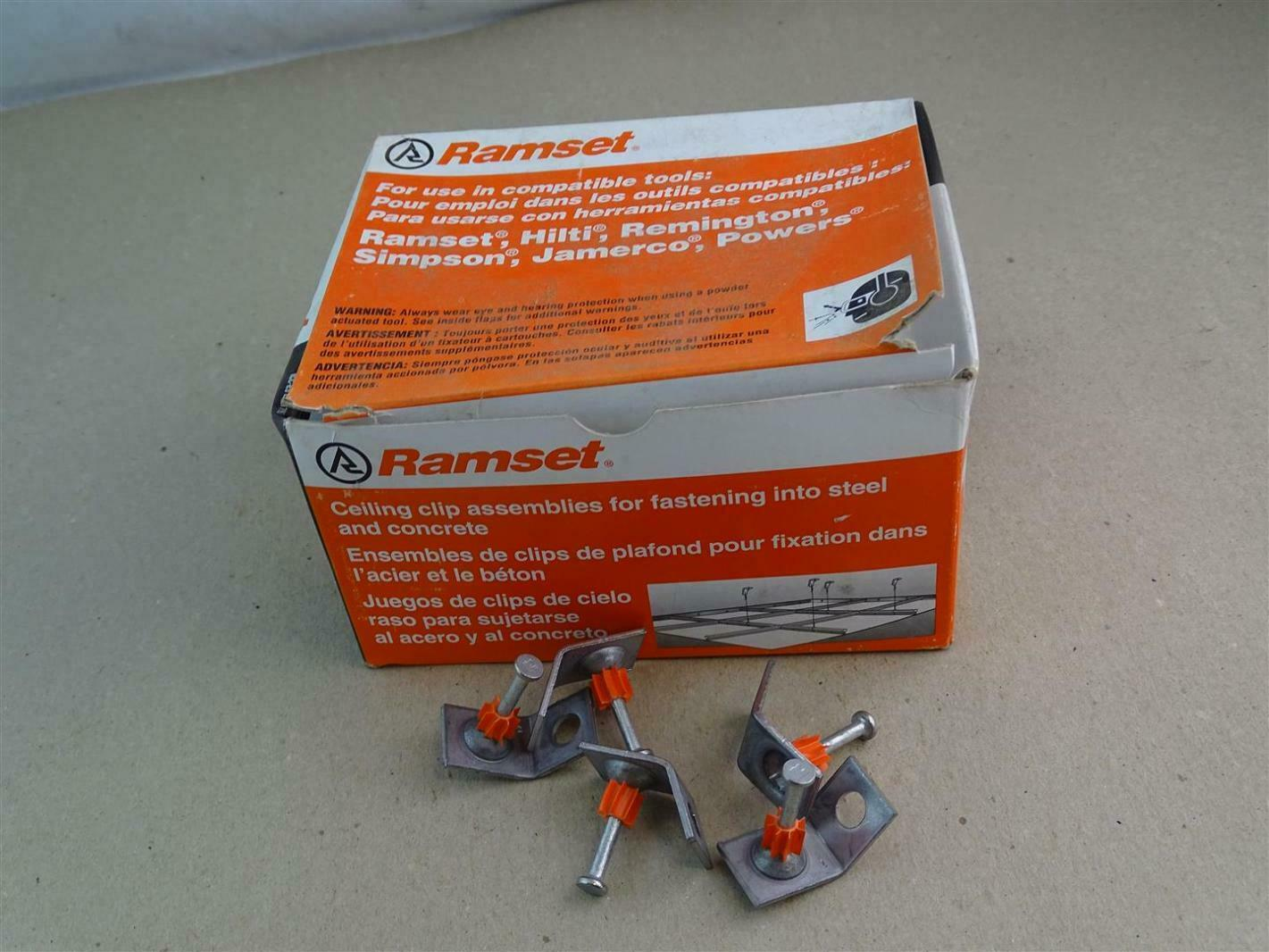 Ramset Powder Fastening Systems 1-1//4-Inch Washered Pins 200 Pack