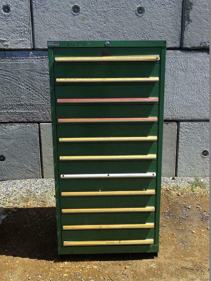 Details About Deluxe Lista 12 Drawer Industrial Tool Storage Chest Cabinet