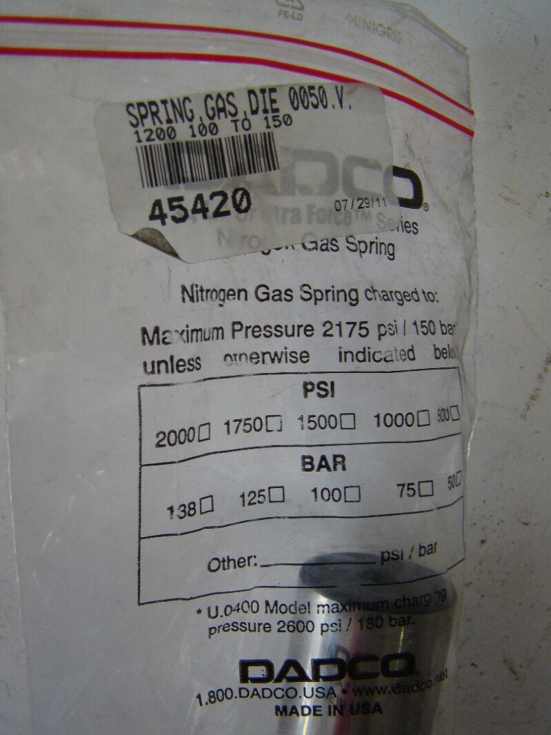 Dadco Spring, Gas, Die 0050.V. U.1200.100.T0